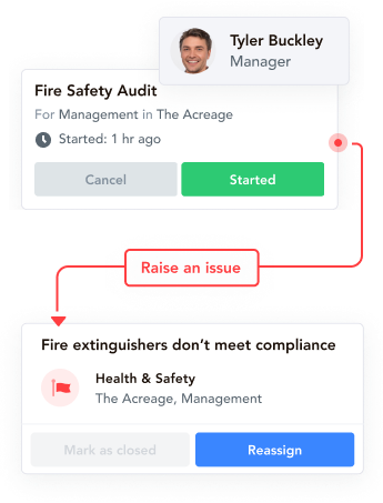 health and safety checklist, fire safety checklist, digital task management, issue reporting app, sports club software, club checklist, football club checklist, club compliance