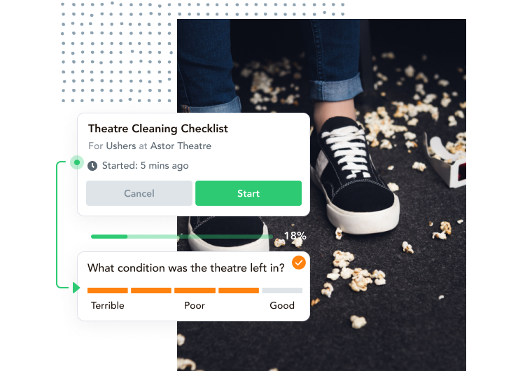 cinema task management, cinema checklist software, venue software, venue team management, venue software programs, software for theatres