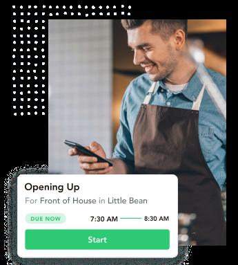 coffee shop software, cafe software, cafe checklists, cafe task management