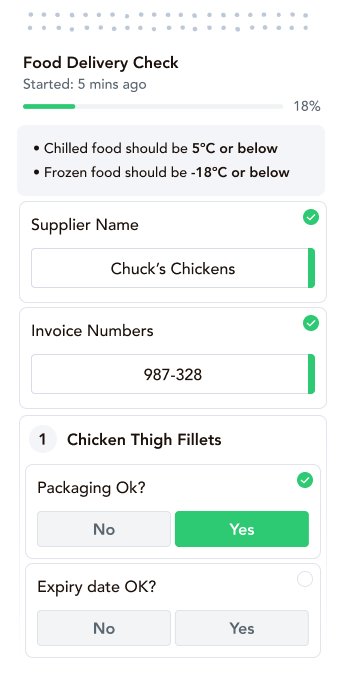 food safety management system, compliance food safety, digital food safety management, hygiene inspection checklist